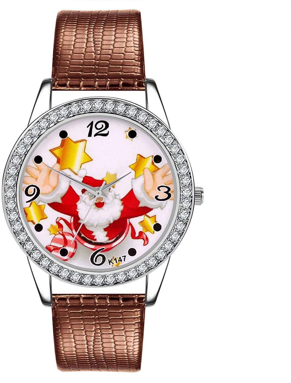 Watches Women's Christmas Snowflake Quartz Analog Watch Round Dial Wrist Watches