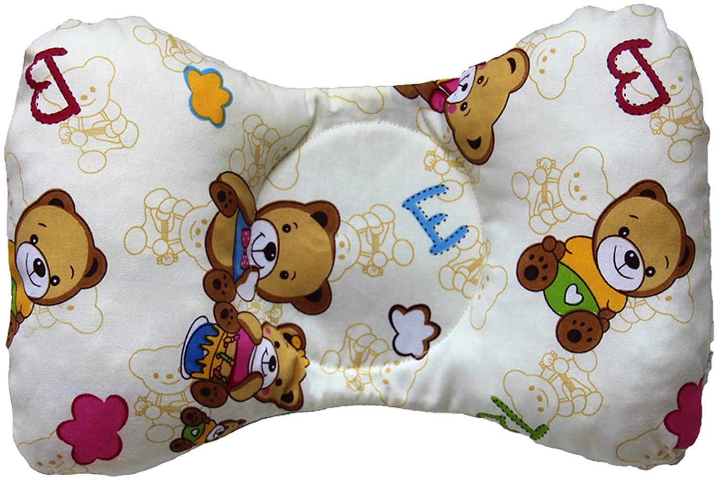 JUYIVIP Baby Pillow 0-1 Years Old Newborn Anti-Heavy Head Head Correction Baby Correction Head Correction Pillow Summer Breathable, Gift for Newborn, Baby boy and Baby Girl. (Little Bear)