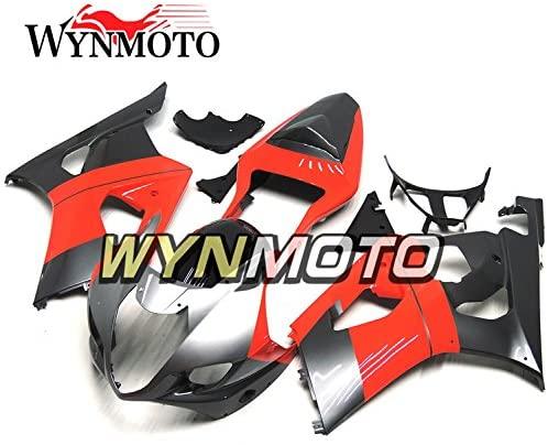 WYNMOTO Motorcycle Full Fairing Kit For Suzuki GSXR1000 K3 2003 2004 GSXR 1000 03 04 New Sportbike ABS Plastic Injection Red Black Sliver Body Frames