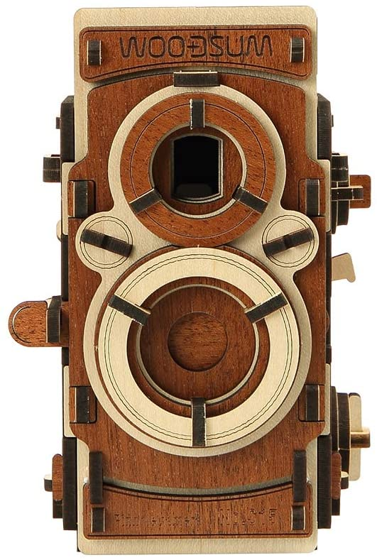 WOODSUM Fully Functional Wooden 3D Puzzle for Adult Pinhole Camera S