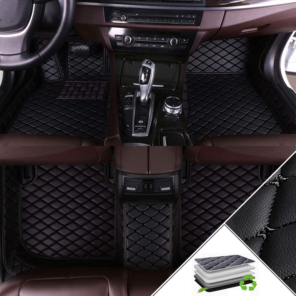 ALLYARD Custom Car Floor Mats for Mercedes-Benz GLK Class 300 350 2008-2014 All Weather Waterproof Non-Slip Full Covered Protection Advanced Performance Liners Car Liner Black