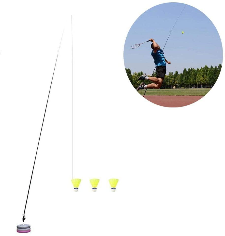 Tennis Training Tool Single Portable Rebound Practice Badminton Trainer for Beginner