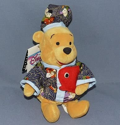 Disney Store Fisherman Japanese Pooh Plush