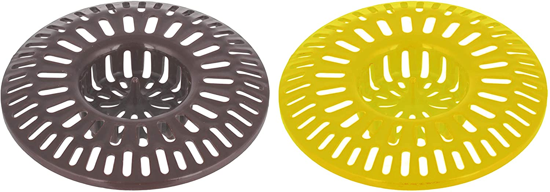 Shower Tub Guard Drain Cover Catcher - Pack of 2 - Bathtub Basket Hair Mesh - Kitchen Sink Drain Trap Strainer