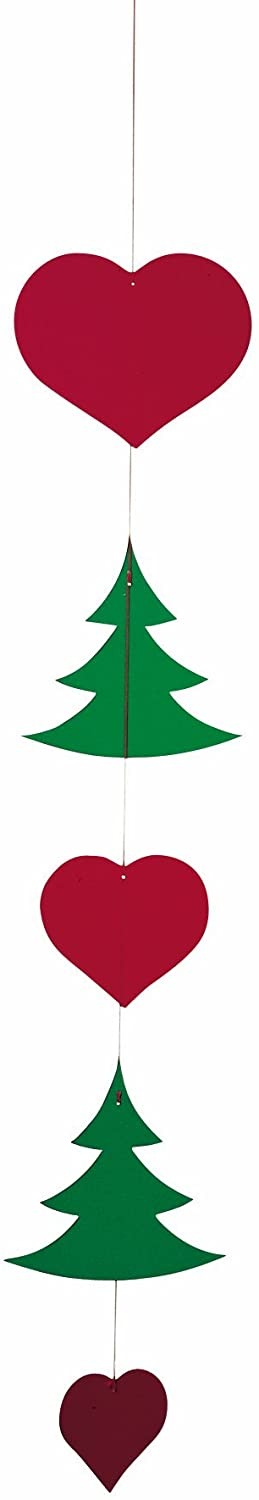Christmas Ornaments Hanging Mobile - 15 Inches Plastic - Handmade in Denmark by Flensted