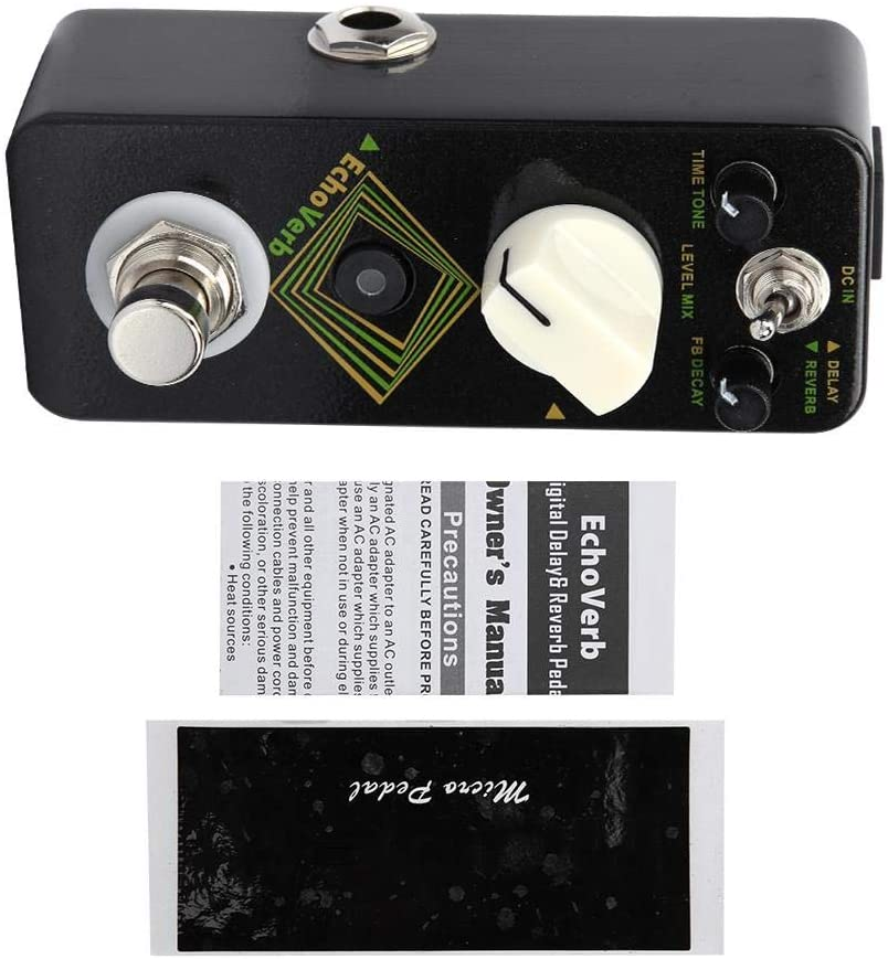 Bnineteenteam Guitar Delay and Reverb Effect Pedal 2 Modes for Electric Guitar