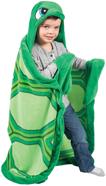 Fin Fun Wild Things Snapper Turtle Wearable Hooded Blanket