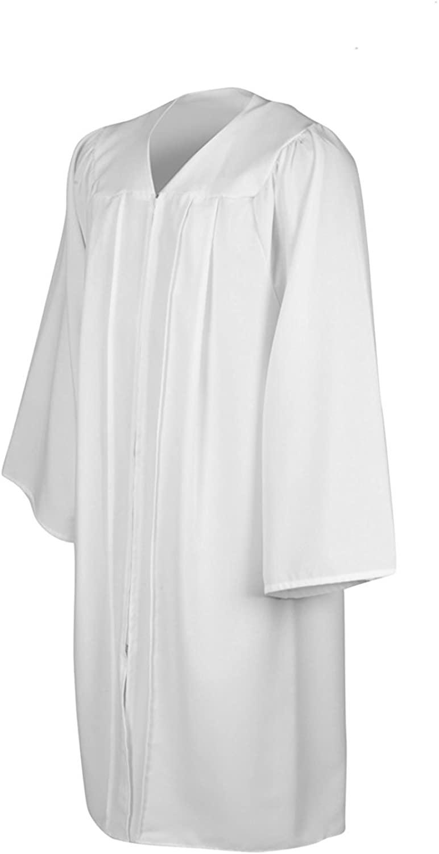 Leishungao Senior Classic Choir Robes Confirmation Robe White for Baptisms