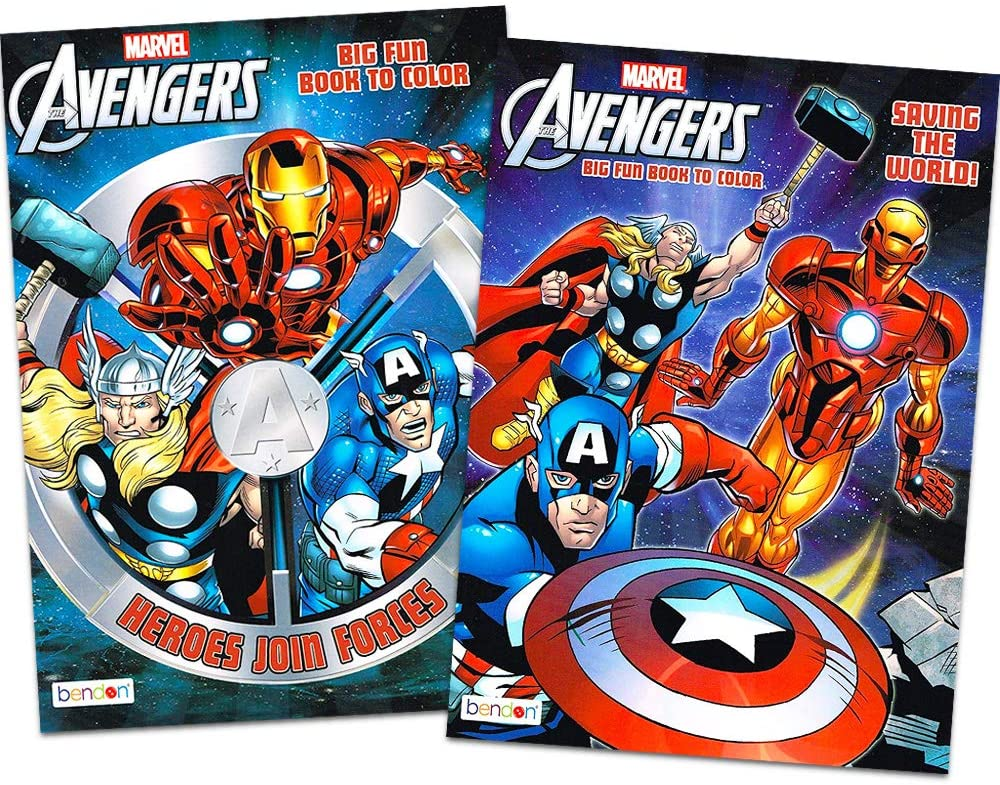 Marvel Mighty AvengersColoring and Activity Book Set (2 Books ~ 96 pgs Each)