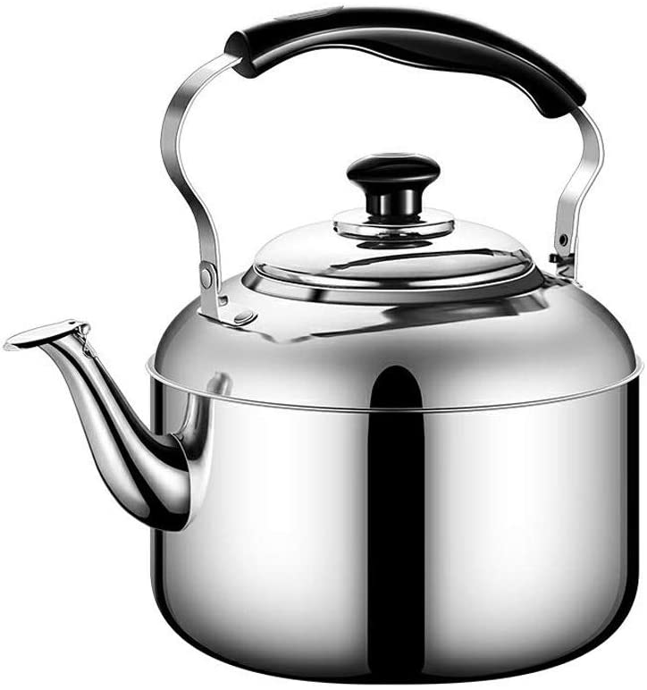 Stainless Steel Whistle Tea Kettle, Stove Top Whistle Teapot with Heat-resistant Handle, Large Capacity (Size : 4L)