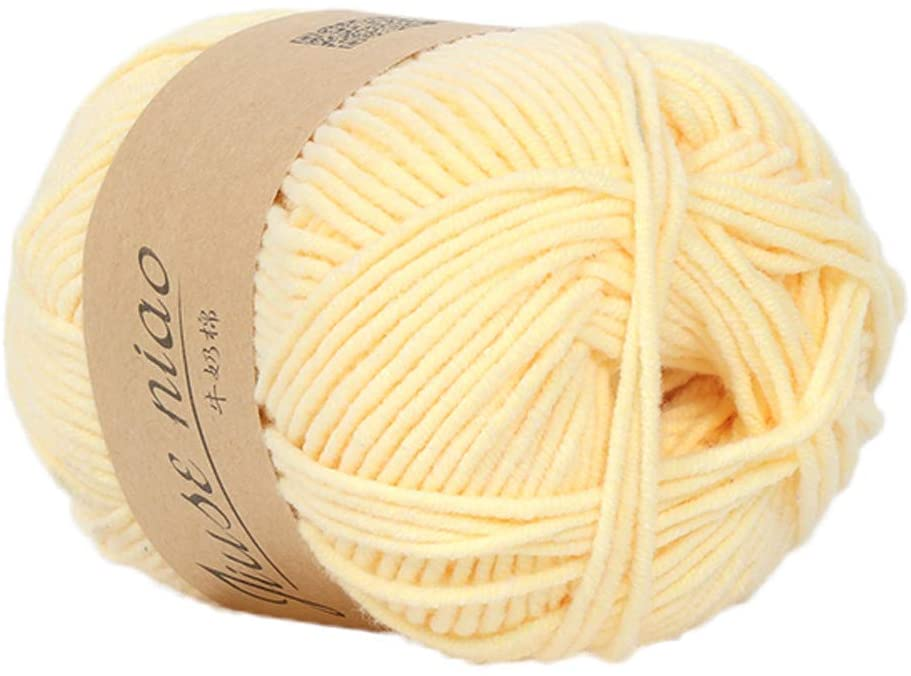 Clearance Sale ! Milk Cotton Wool,Vanvler 1PC 50g Chunky Colorful Hand Knitting Baby Crochet Knitwear Yarn (C1)