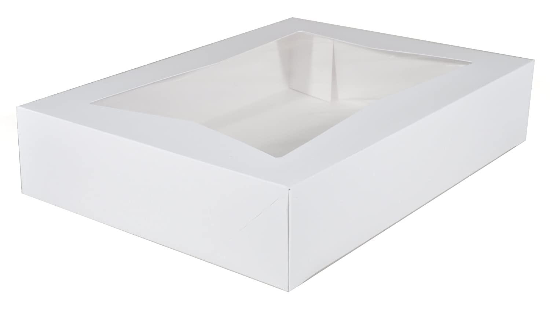 Southern Champion Tray 24433 Paperboard White Window Bakery Box, 19