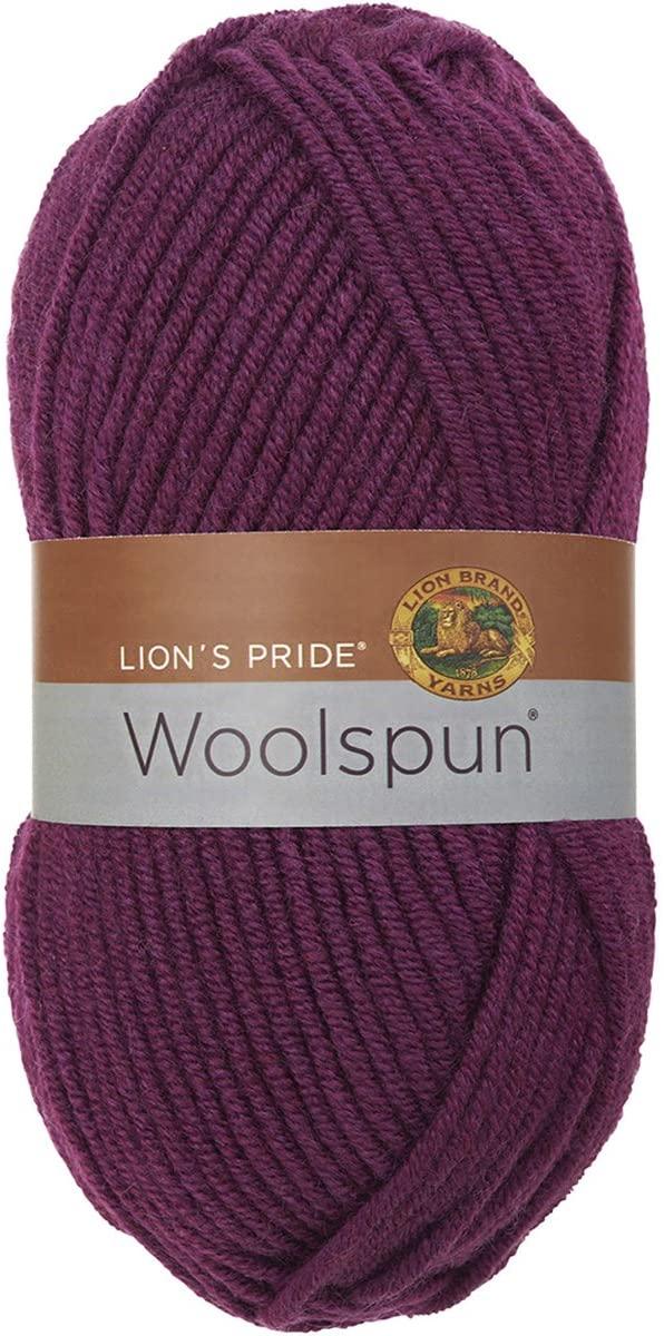 Lion Brand Yarn 671-141 Lions Pride Woolspun, Plum