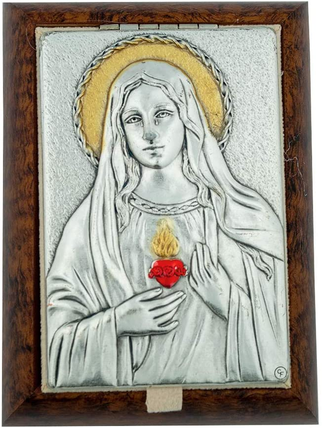 Decorative Rosary Keepsake Box with Saint Plaque (Immaculate Heart of Mary)