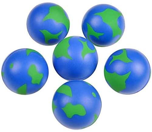 Rhode Island Novelty 2 Inch Earth Stress Balls Pack of 24