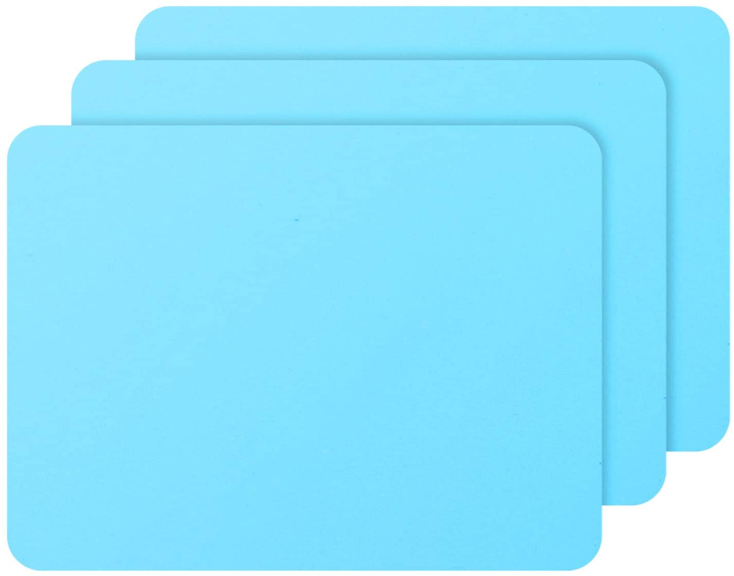 3 PCS Medium Silicone Sheets, Gartful Silicone Crafts Mat for Epoxy Resin Jewelry Casting Molds, Multipurpose Countertop Protector Pad Placemat, Nonslip Non-stick Heat Resistant, Blue (15.7 x 11.8 inches)