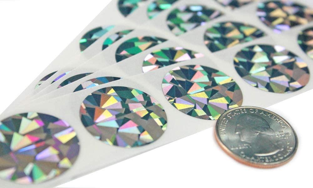 My Scratch Offs 1 Inch Hologram Silver Round Scratch Off Sticker Labels - 1000 Pack