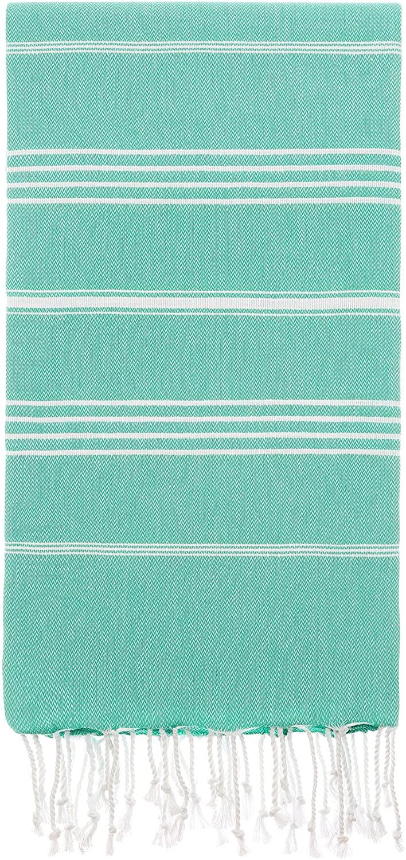 Cacala Pestemal Turkish Bath Towels 37x70%100 Cotton Mint Green
