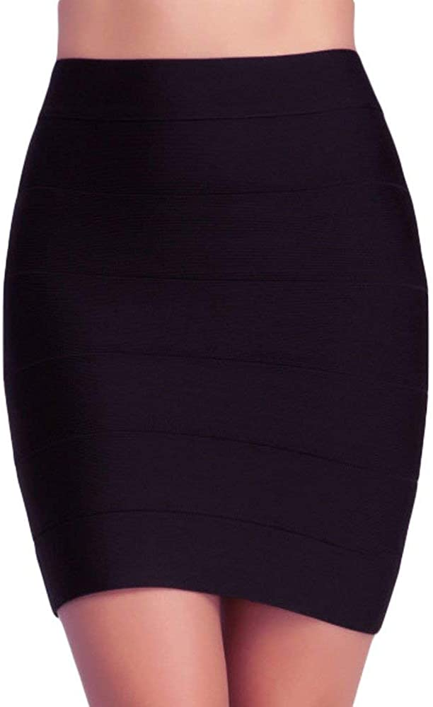 doublefive Office Work Dressy Business Attire Scuba Pencil Skirt for Women - Stretch Bandage Mini Skirt USA