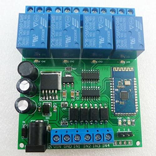DC 5V 9V 12V 24V 4CH Bluetooth Relay Android app Wireless Remote Controller for Smart Home Motor LED Car Control System