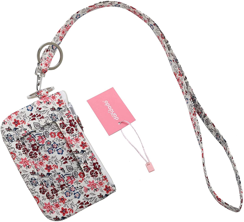 dandodo Card Holder ID Case Badge Neck Strap Lanyard (017White)