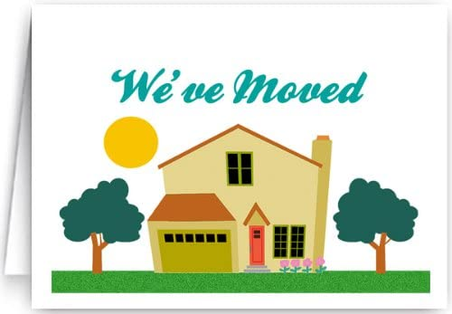 New Address Announcement Note Cards - 10 Boxed Cards & Envelopes