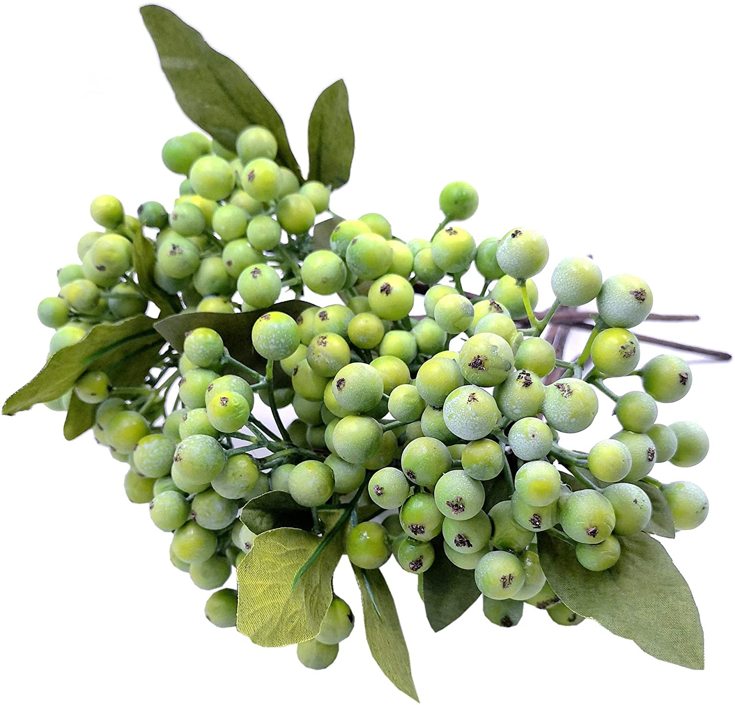 M2cbridge Pack of 6 Green Artificial Berry Stems Christmas Picks Wreath Ornament