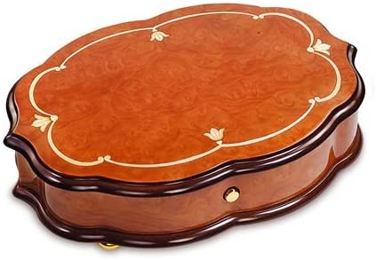 """Reuge Handcrafted Classic Style 3.72 Note Music Box Titled """"Fleur de LYS"""" - Many Songs to Choose - La Campanella (F.Liszt) (3 Parts)"""
