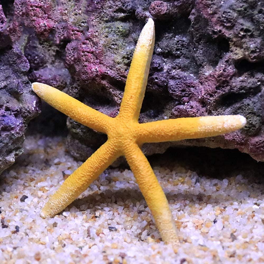 Danmu 1Pc of Polyresin Coral Ornaments, Aquarium Coral Decor, Starfish Decor for Fish Tank Aquarium Decoration 4 7/10