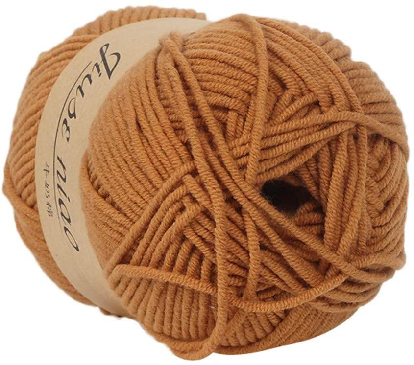Clearance Sale ! Milk Cotton Wool,Vanvler 1PC 50g Chunky Colorful Hand Knitting Baby Crochet Knitwear Yarn (F3)