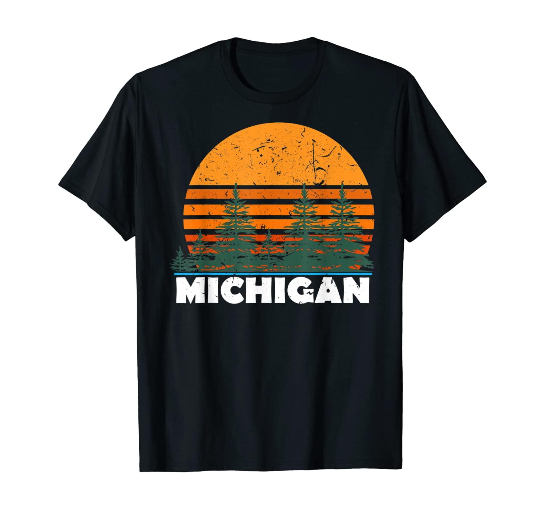 Michigan Shirt | Vintage Retro Sunset MI State Tee Gift