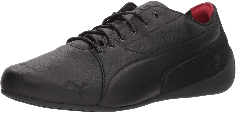 PUMA Men's Ferrari Drift Cat Sneaker, Black Black, 9 M US