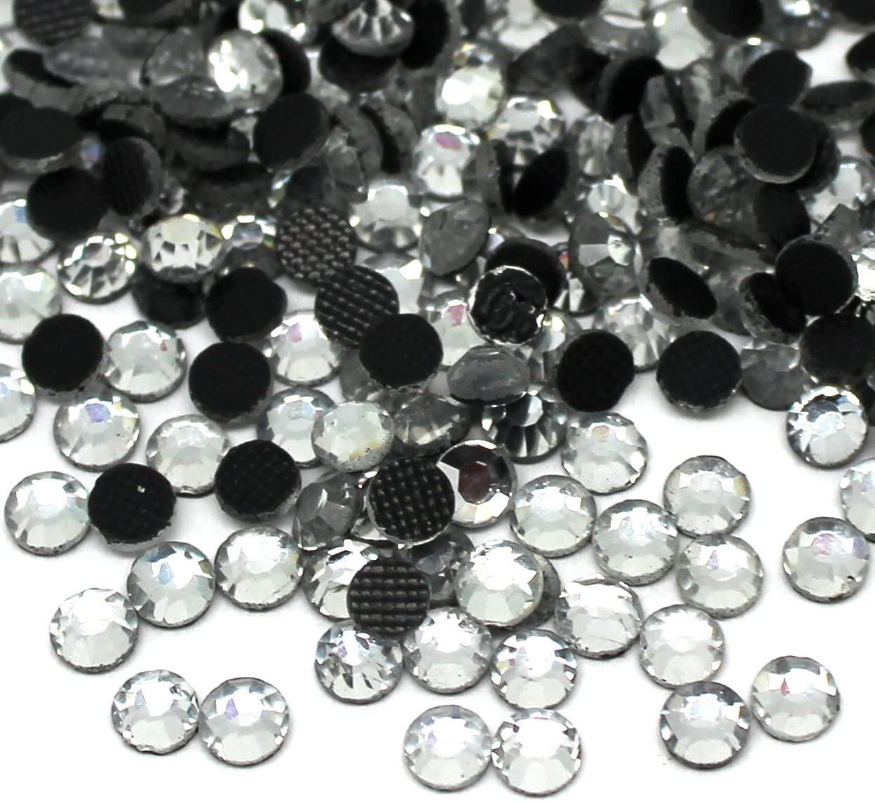 Zbella Crystal Hot Fix Rhinestones 10 Gross (1440 Stones/pkg) Hotfix Rhinestones (ss20, Crystal)