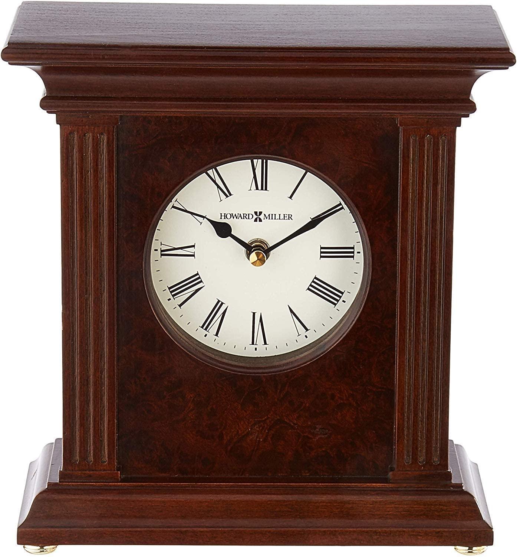 Howard Miller Andover Accent Mantel Clock 635-171 – Cherry Bordeaux with Quartz Movement