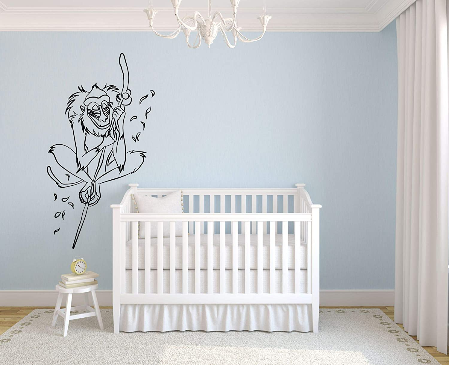 Rafiki The Lion King Wall Decals for Kids Rooms Simba Mufasa Decor Lions Boys Girls Creative Animated Vinyl Decal Removable Stickers for Bedrooms Artwork Child Favorite Decoration Size (15x12 inch)