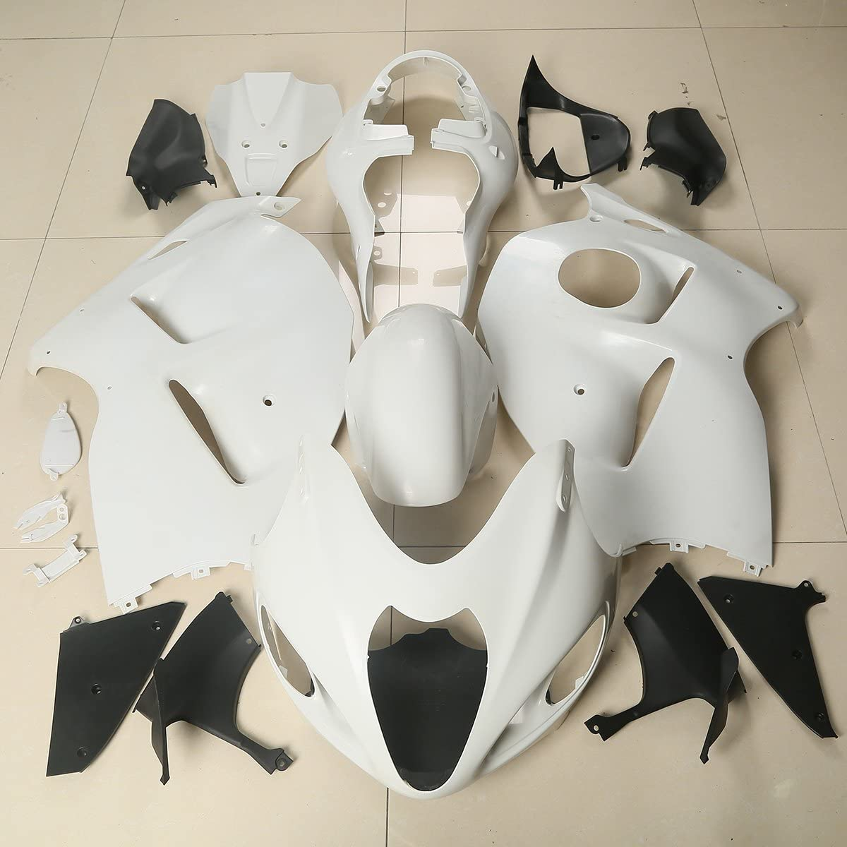 XMT-MOTO Bodywork Fairing Kit fits for Suzuki Hayabusa GSX1300R GSXR 1300 1997-2007,Unpainted White
