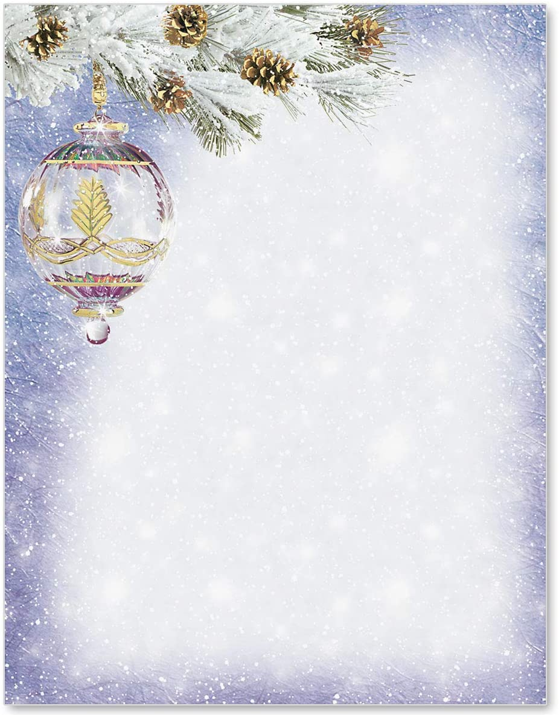 PaperDirect Snowy Splendor Specialty Letterhead, 8.5 x 11, 100 Count