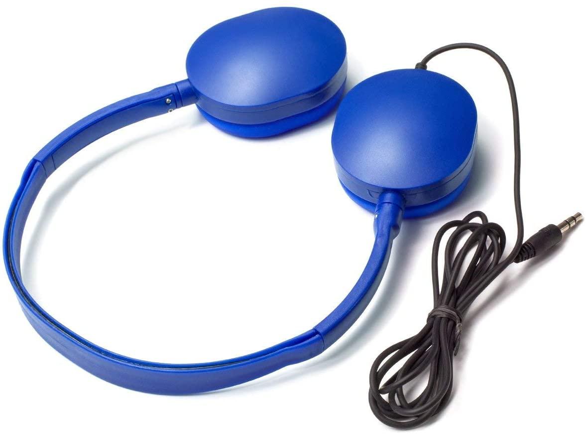Bulk Headphones Kids Headphones 4 Pack Headphones for Kids,Girls/Boys- Earbuds for Kids Colorful (Blue Color) Headphones for Grils, Boys,Students, Libraries, Classroom