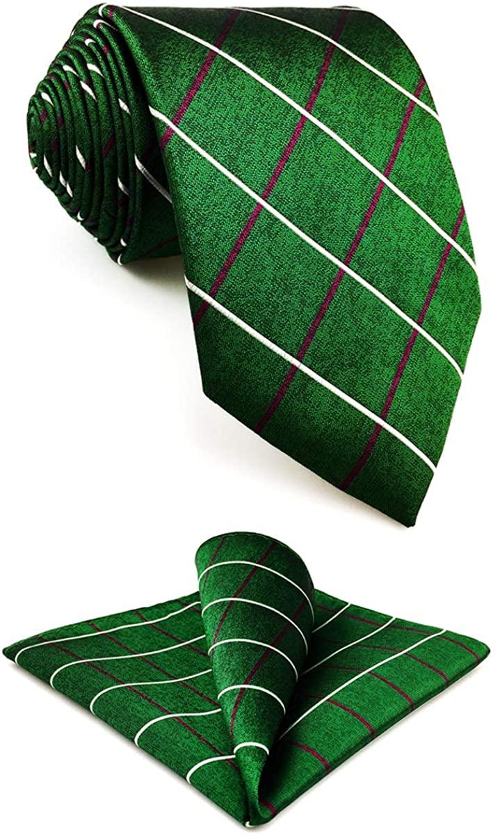 S&W SHLAX&WING Skinny Tie with Pocket Square Silk Necktie Set Hanky