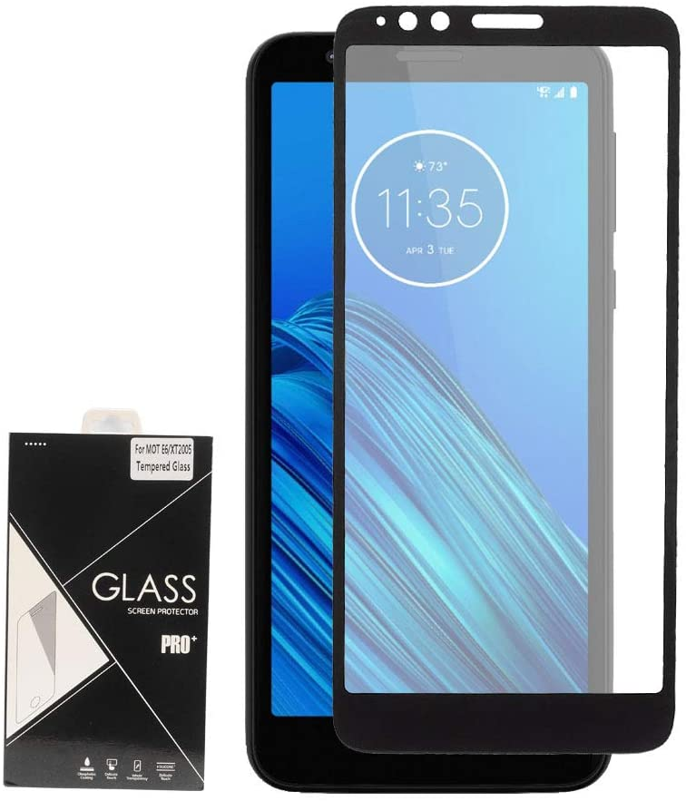 for Motorola Moto E6 XT2005 (2019), Moto E 6th Gen. - Tempered Glass Screen Protector - Black Frame