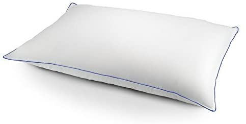 Effortless Bedding Luxury Feather & Down Chamber Pillow King, Firm Support