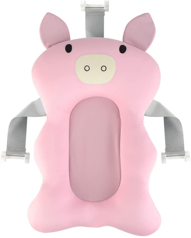 Yuehuam Baby Bath Pad Infant Bathtub Cushion Seat Newborn Anti-Slip Sponge Mat Tub Pillow
