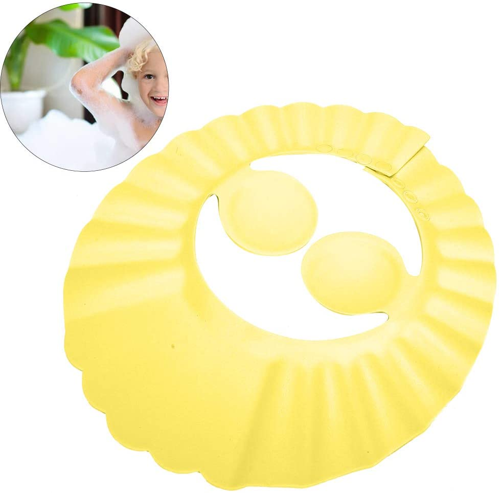 Infant Shower Hat, Baby Shower Cap, Baby Shower Shampoo Bathing Hat Silicone Hair Sunshade Shield Ear Protection Hat Baby Wash Hair Hat Suitable for Kid(#2)