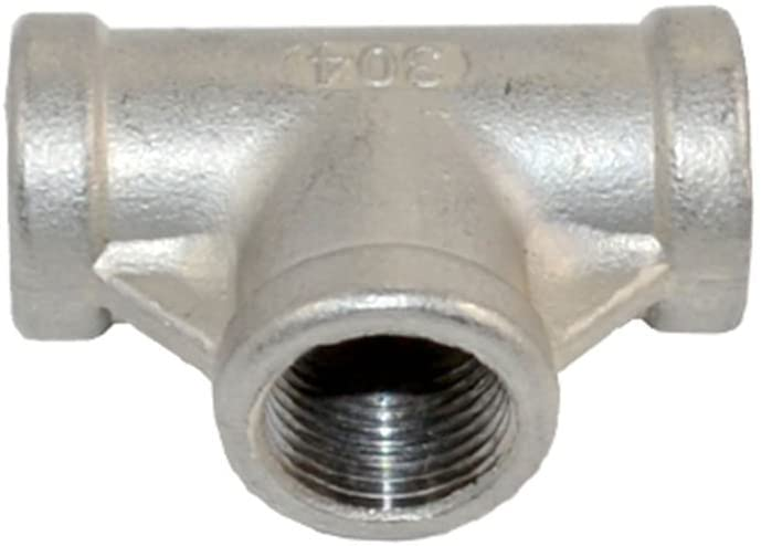 Megairon Stainless Steel 304 NPT Female Thread Pipe Fitting Adapter,3/8