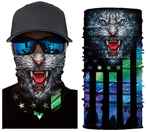 X-COSTUME Seamless Bandana Face Cover Cool Unisex Magic Scarf Neck Gaiter for Sport Outdoor