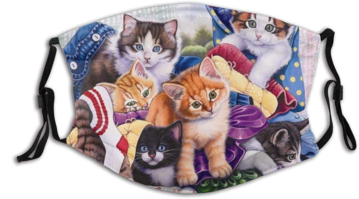 Animal Cat Personality Summer Dustproof Face Mask Washable& Reusability Distinctive