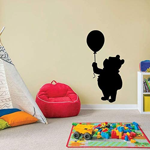 Cute Winnie The Pooh Pooh Bear Pooh Adventures Cute Balloon Silhouette Vinyl Sticker Wall Art Decoration Decal For Kids Baby Girl Baby Boy Room Home Room Wall Sticker Decorations Size (27x30 inch)