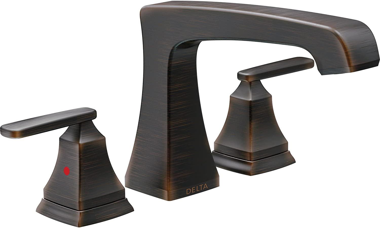 Delta Ashlyn Modern Venetian Bronze Finish Roman Tub Filler Faucet INCLUDES Valve and Lever Handles D1093V