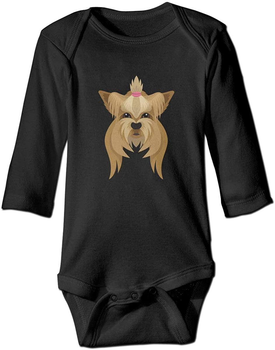 Pengshiliu Hair Dog Head Baby Climbing Long Sleeve Bodysuit