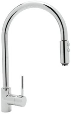 Rohl LS57L-APC-2 Modern Architectural Single Hole Side Mount Single Metal Lever Kitchen Faucet in Polished Chrome by Rohl